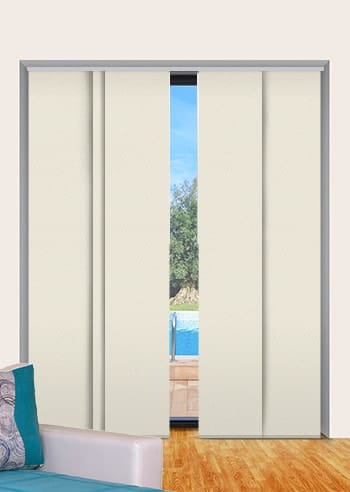 Natural St Clair Dimout Panel Glide Blinds