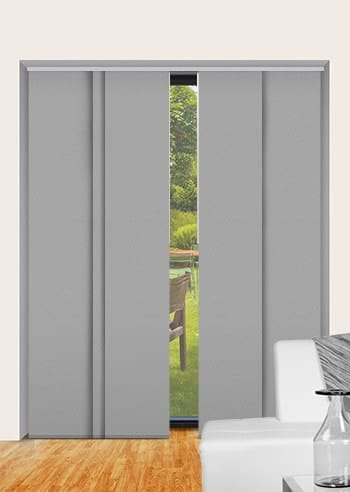 Pale-Grey St Clair Dimout Panel Glide Blinds