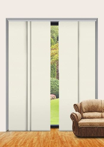 White Birch St Clair Dimout Panel Glide Blinds