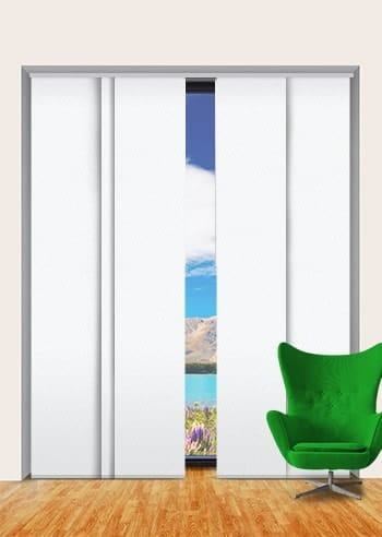 White St Clair Dimout Panel Glide Blinds