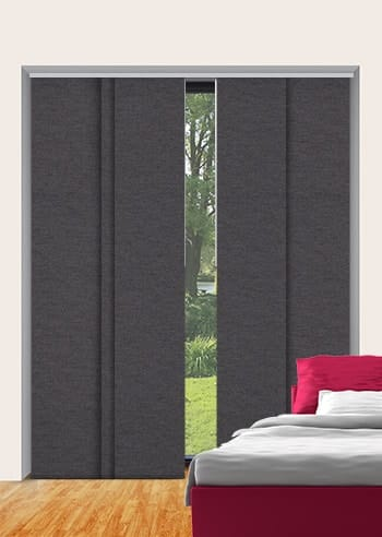 Charcoal Toodyay Blockout Panel Glide Blinds