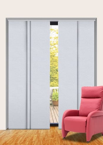 Pewter Toodyay Blockout Panel Glide Blinds