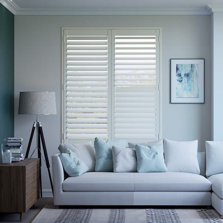 Silk White Basswood Timber Plantation Shutters