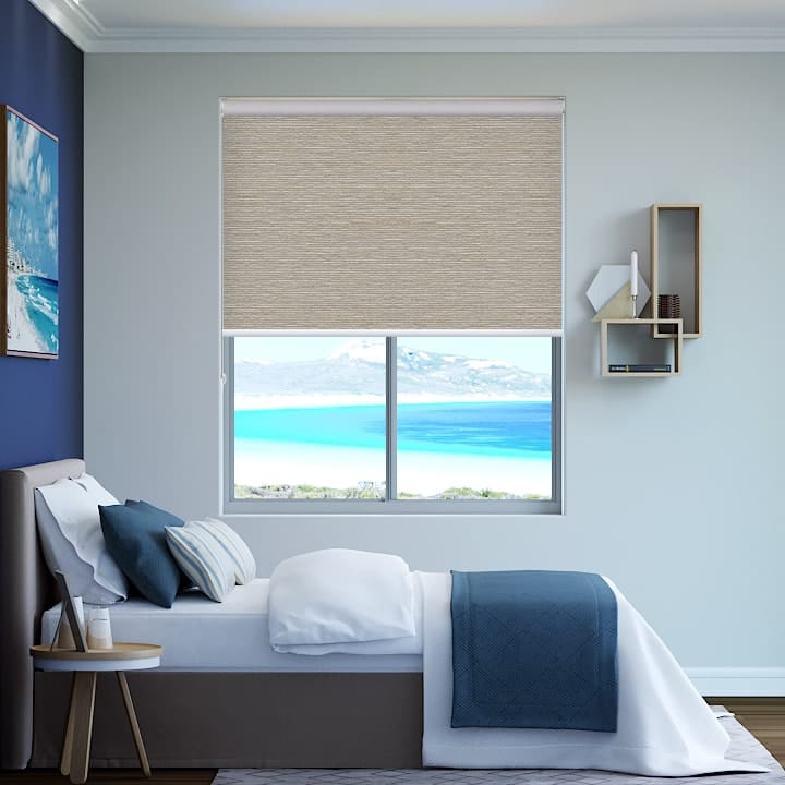 Latte Balmoral Blockout Roller Blinds