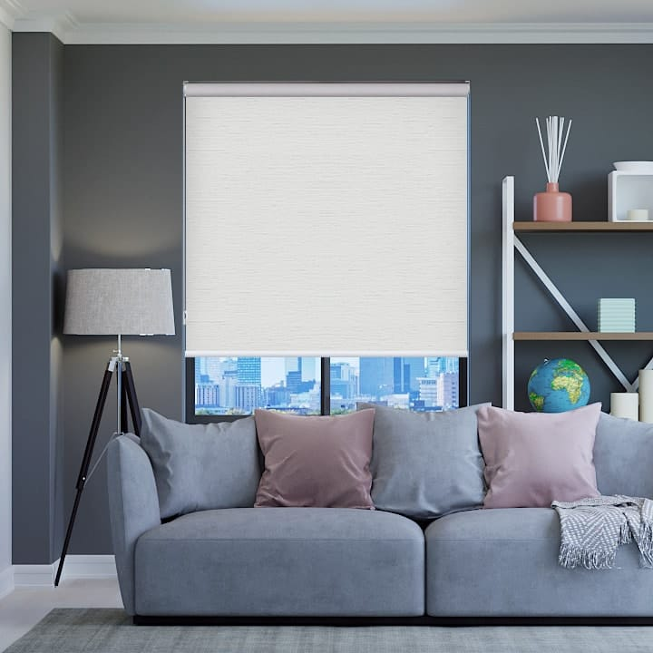 White Balmoral Blockout Roller Blinds