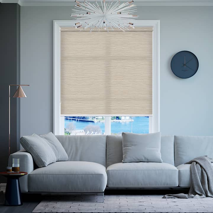Chalk Berkley Translucent Roller Blinds