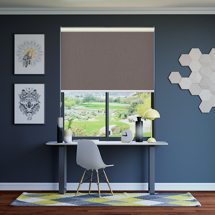 Warm Earth Bondi Blockout Roller Blinds