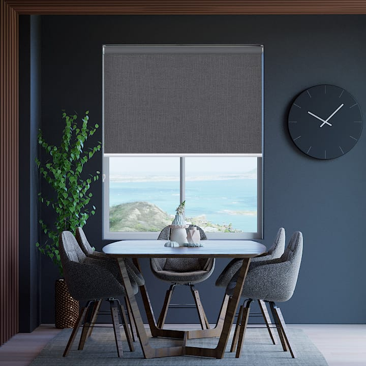 Chrome Cai Blockout Roller Blinds
