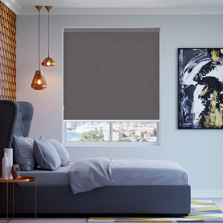Grey Cai Blockout Roller Blinds
