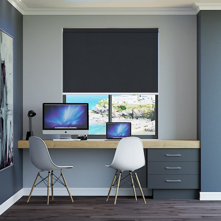 Coal Elite Blockout Express Roller Blinds