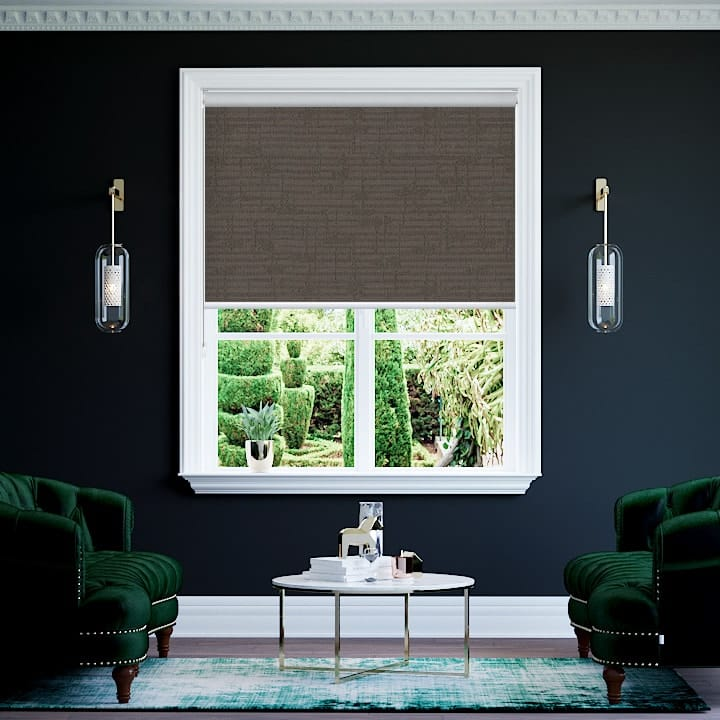 Bronze Lisbon Blockout Roller Blinds
