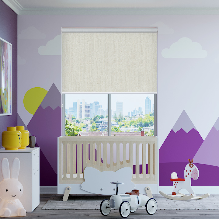 Marshmallow Lisbon Blockout Roller Blinds