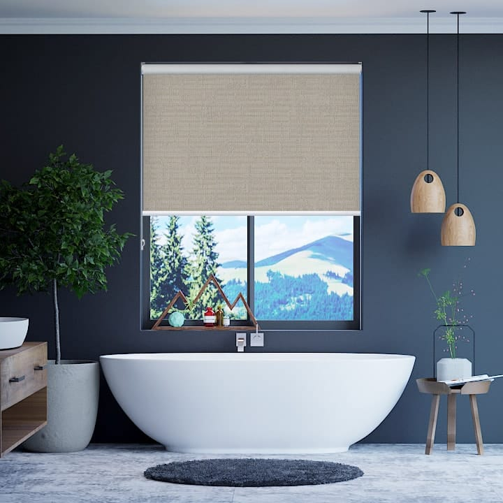 Stone Lisbon Blockout Roller Blinds