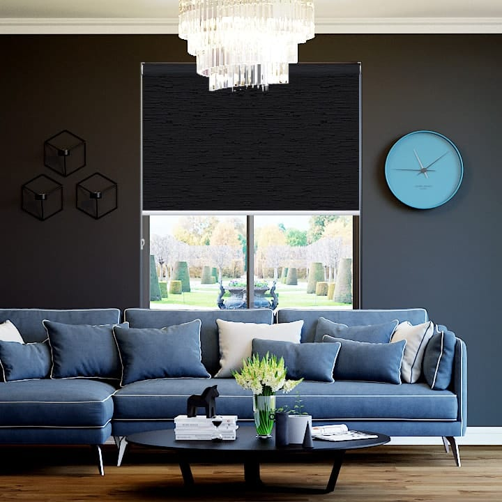 Midnight Monte Carlo Blockout Roller Blinds