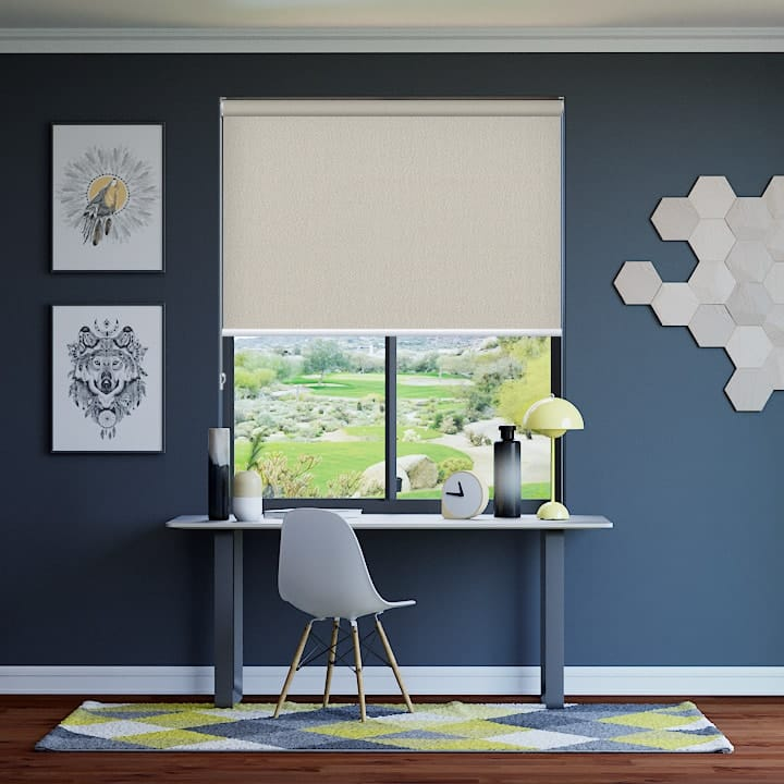 Parchment Paris Blockout Roller Blinds