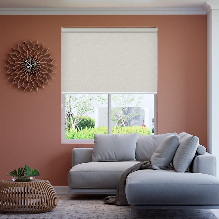 Thorndon Cream Paris Blockout Roller Blinds