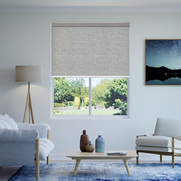 Chalk Quebec Blockout Roller Blinds