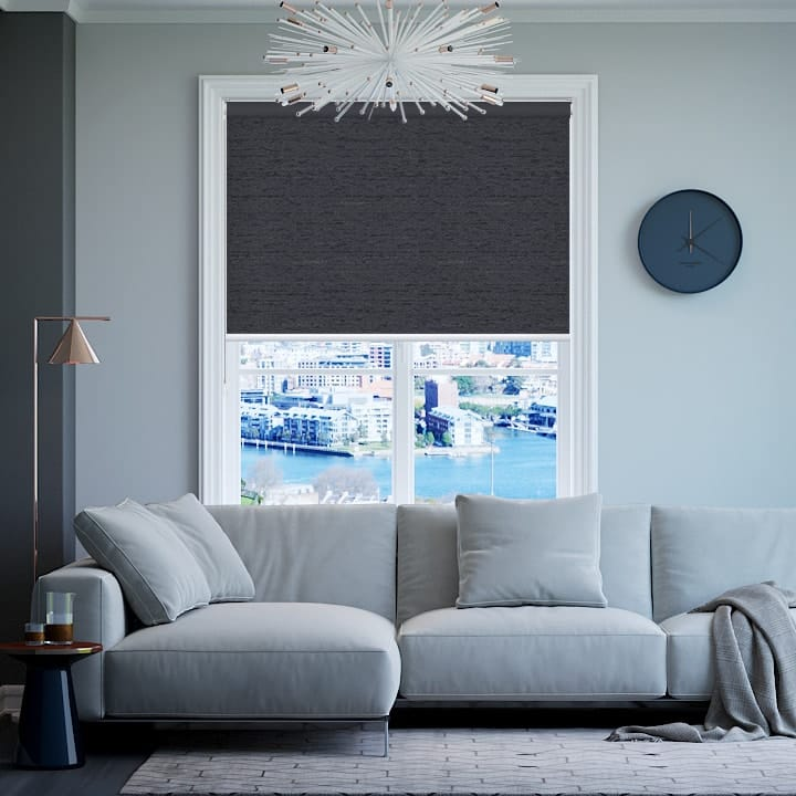 Gunmetal Quebec Blockout Roller Blinds