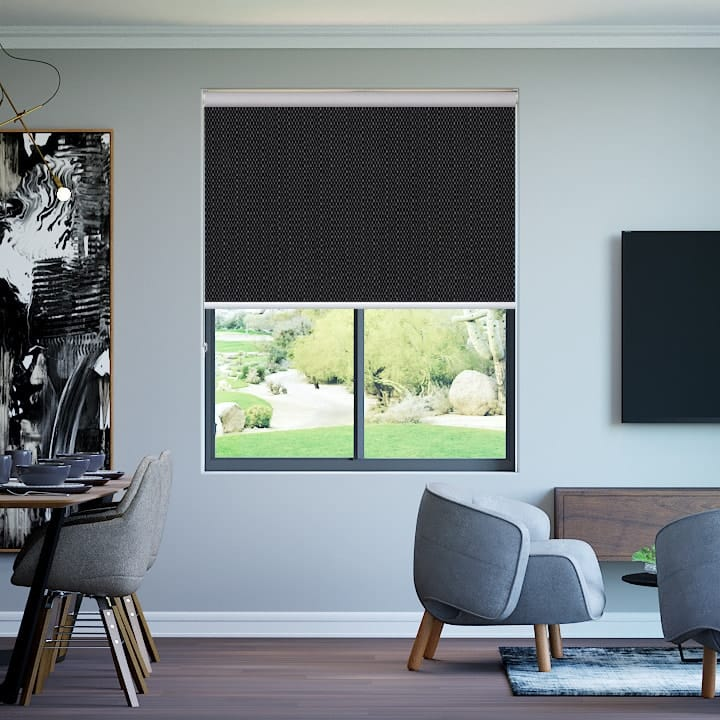 Onyx Santini Blockout Roller Blinds