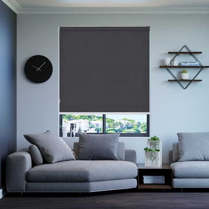 Charcoal St Clair Dimout Roller Blinds