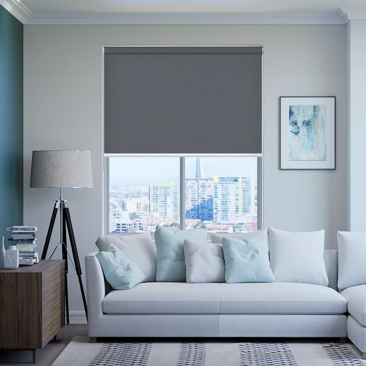 Metal-Grey St Clair Dimout Roller Blinds