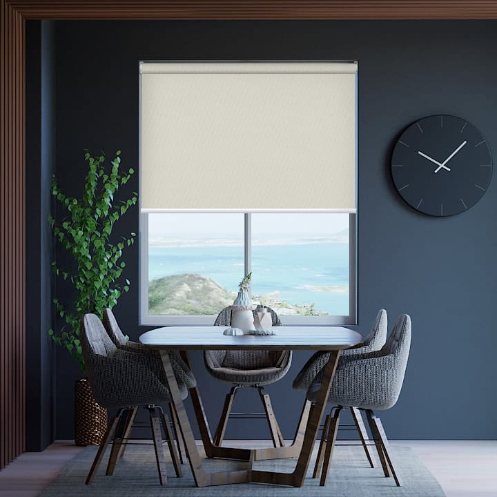 White Birch St Clair Dimout Roller Blinds