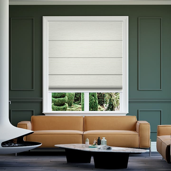 Pearl Balmoral Blockout Roman Blinds