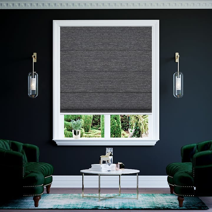 Steel Balmoral Blockout Roman Blinds