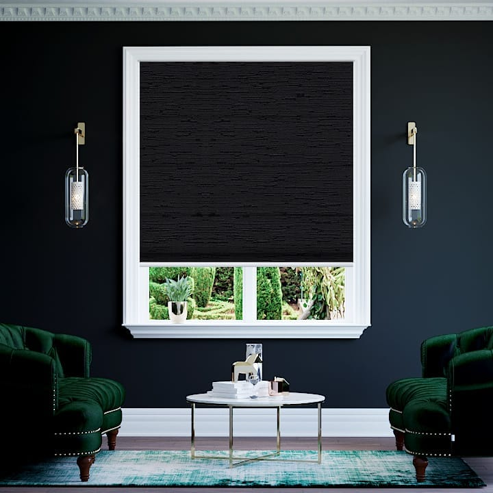 Midnight Monte Carlo Blockout Roman Blinds