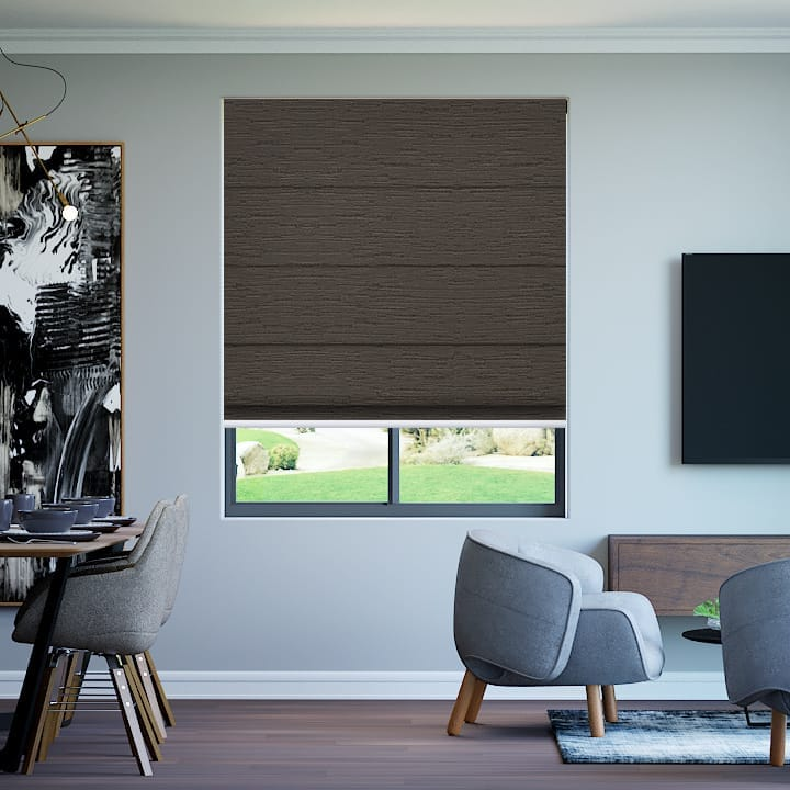 Stone Monte Carlo Blockout Roman Blinds