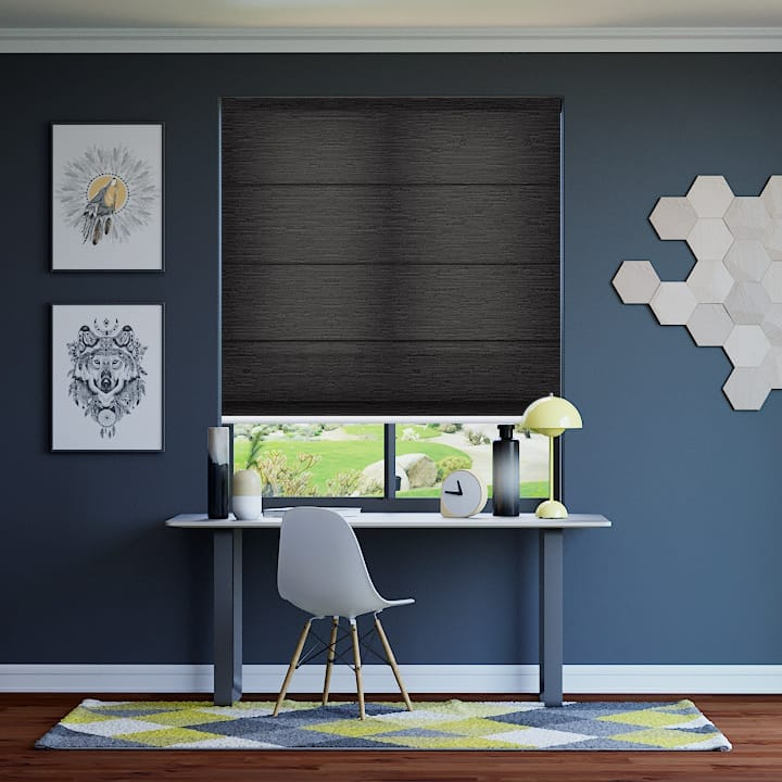 Gravel Monte Carlo Translucent Roman Blinds