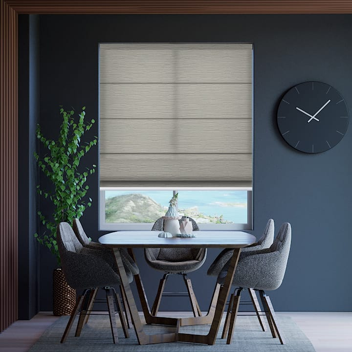 Platinum Monte Carlo Translucent Roman Blinds