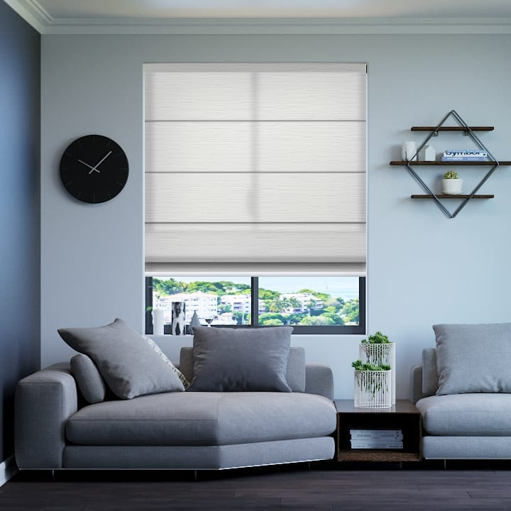 Whisper Monte Carlo Translucent Roman Blinds