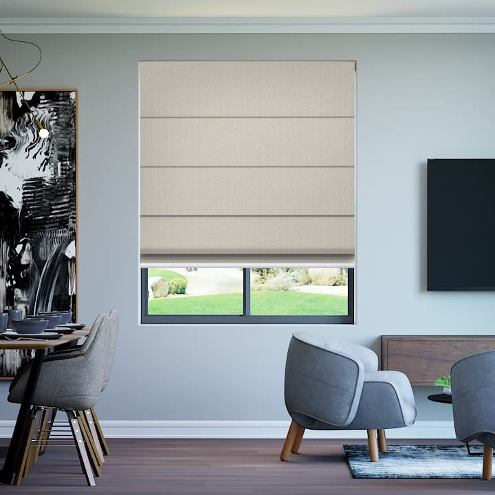 Parchment Paris Blockout Roman Blinds