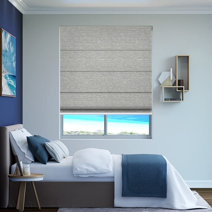 Chalk Quebec Blockout Roman Blinds