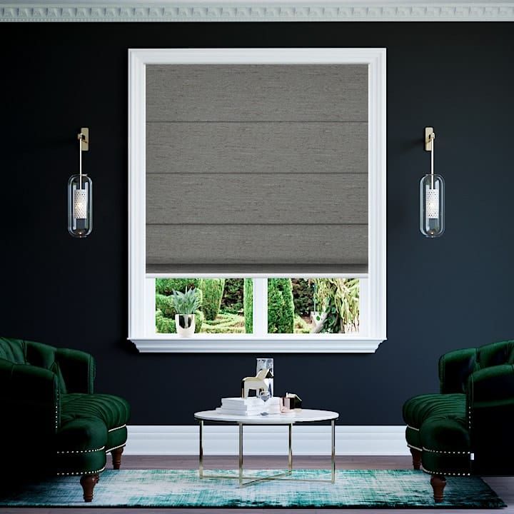 Shale Quebec Blockout Roman Blinds