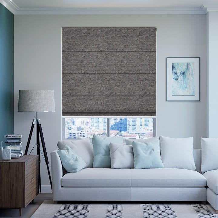Tussock Quebec Blockout Roman Blinds