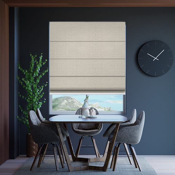Pebble Santini Blockout Roman Blinds