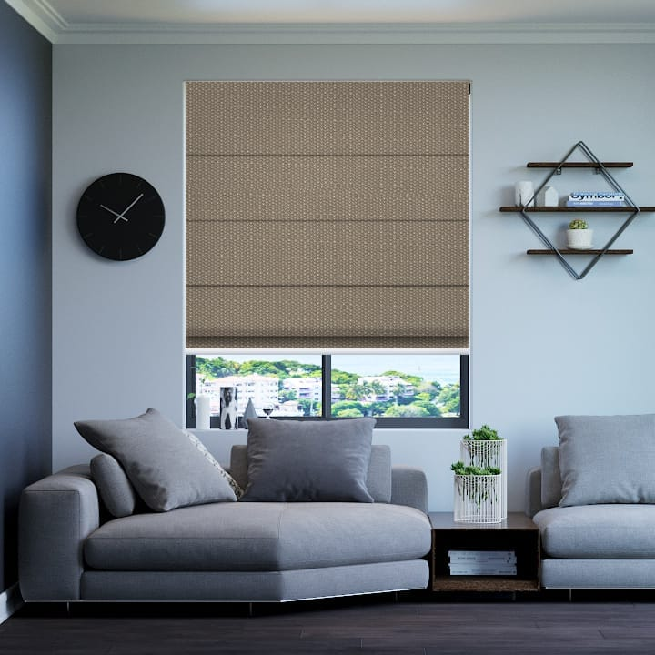 Stone Santini Blockout Roman Blinds