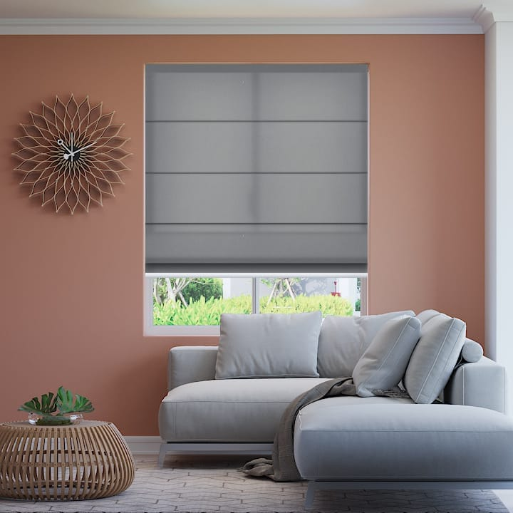 Pale Grey Seville Translucent Roman Blinds