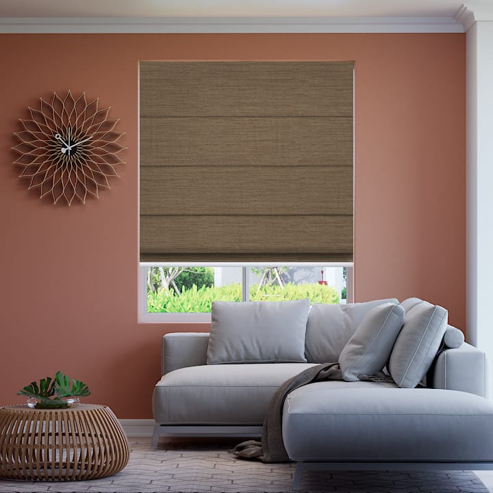 Sand Soft Natural Blockout Roman Blinds