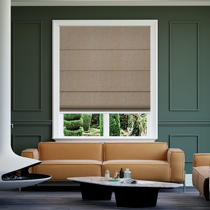 Camel Soft Wonder Blockout Roman Blinds