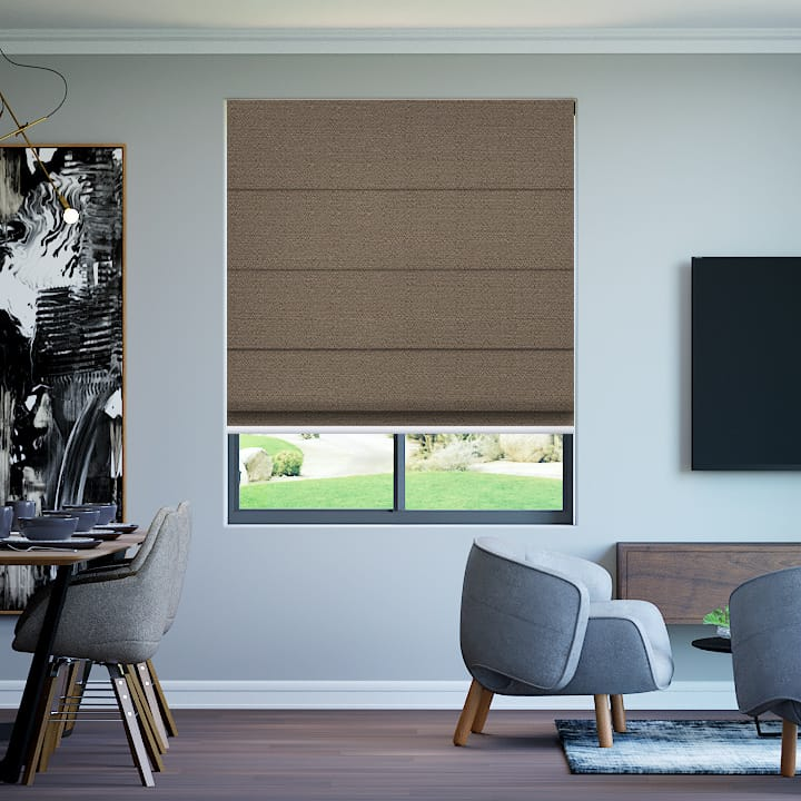 Mocha Soft Wonder Blockout Roman Blinds