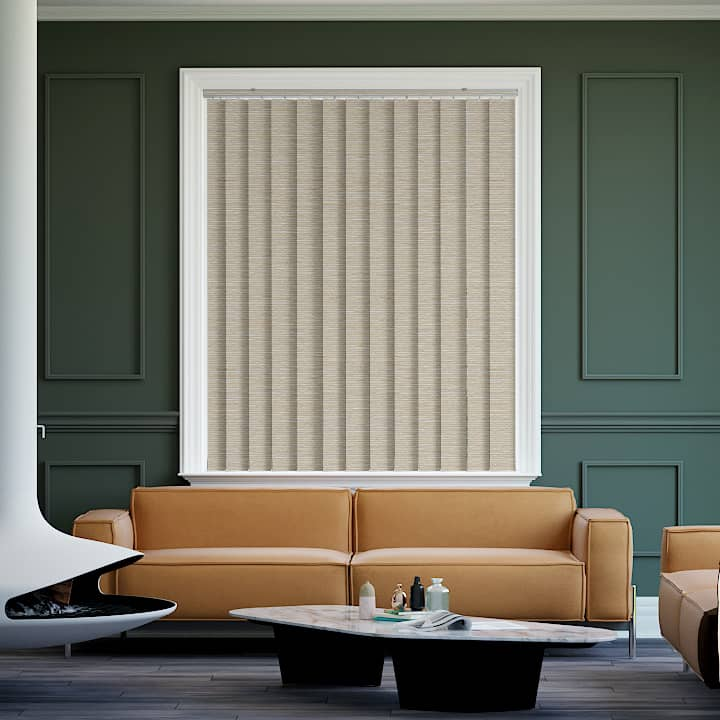 Latte Balmoral Blockout Vertical Blinds