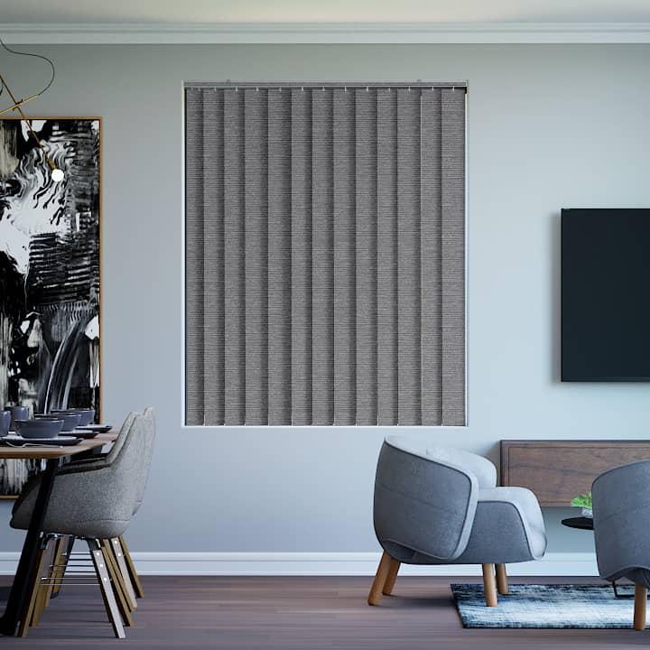 Steel Balmoral Blockout Vertical Blinds