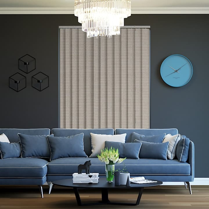 Chinchilla Lisbon Blockout Vertical Blinds