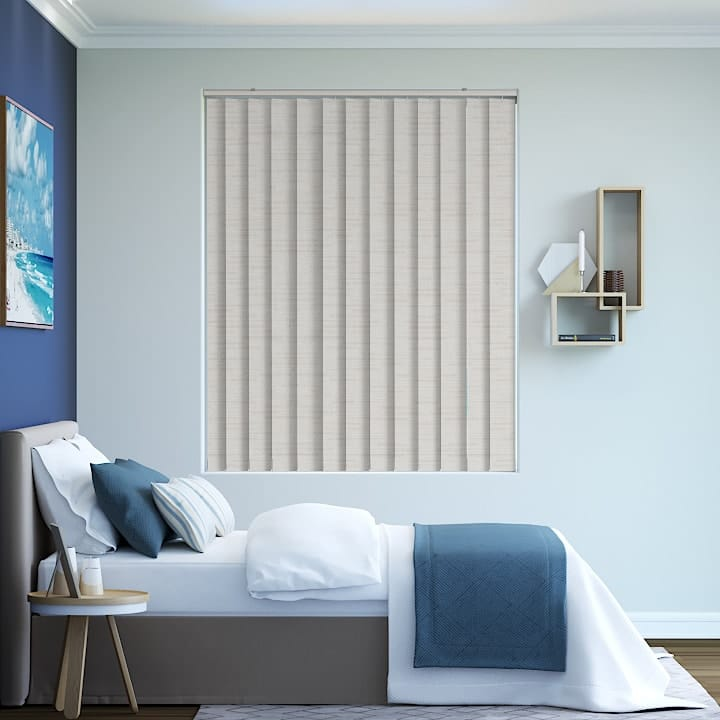 Quartz Lisbon Blockout Vertical Blinds