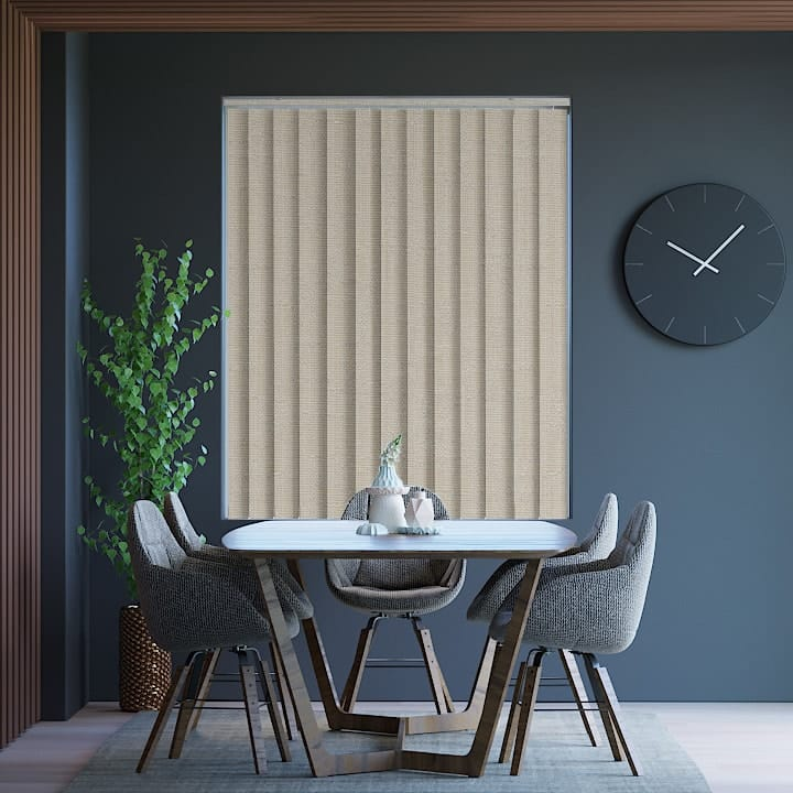 Stone Lisbon Blockout Vertical Blinds