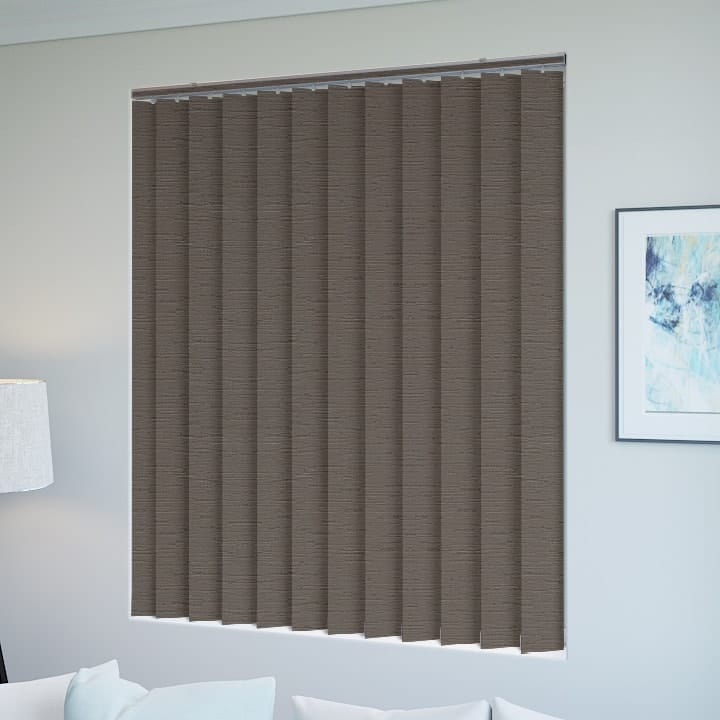 Stone Monte Carlo Blockout Vertical Blinds Online Half