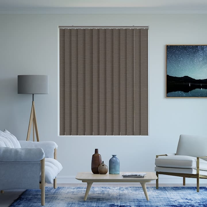 Stone Monte Carlo Blockout Vertical Blinds